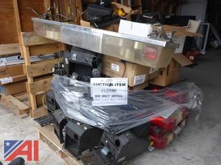 (1583)  Pallet of Sheriff Light Bars, Vehicle Sirens and Center Consoles