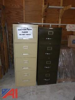 (1586) Office Filing Cabinets