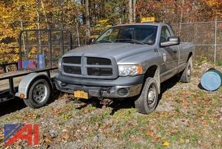 2004 Dodge Ram 2500 Pickup Truck wtih Plow