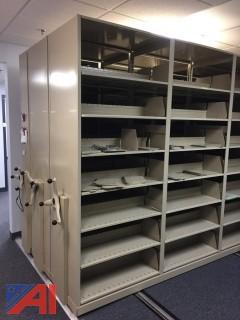 Rolling Hand Crank Storage Shelving For Files