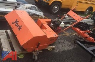 (68) York 3' Yard Sweeper