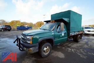 2004 Chevy Silverado 3500 Dump Truck with Plow/313