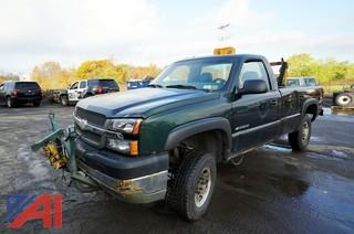 2003 Chevy Silverado 2500 HD Pickup Truck with Plow/503