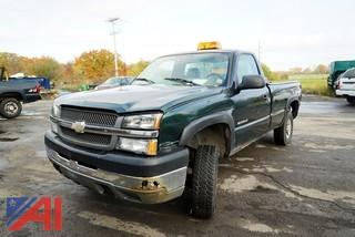 2004 Chevy Silverado 2500HD Long Bed Pickup Truck with Plow/507