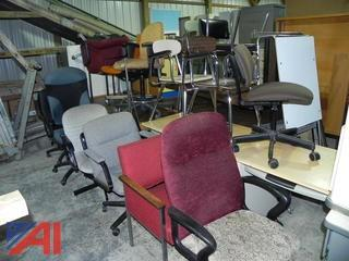 (#9) Assortment of Desks, Tables and Chairs