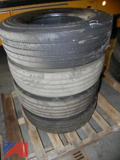 (#2) Bridgestone 245/70R19.5 Tires