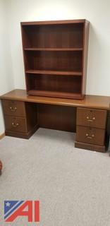 Desks, Book Shelves and File Cabinet