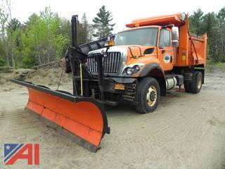 2009 International 7400 Dump Truck with Plow, Wing and Sander