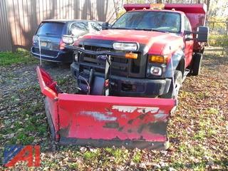 2008 Ford F550 Dump Truck with Plow and Sander