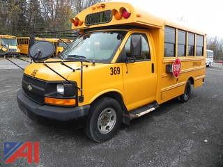 (369) 2010 Chevy/Thomas Express G3500 Mini School Bus
