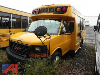 (391) 2009 GMC Savana G3500 Mini School Bus