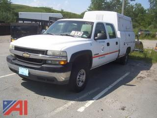 2002 Chevy Silverado 2500HD Pickup Truck with Utility Body