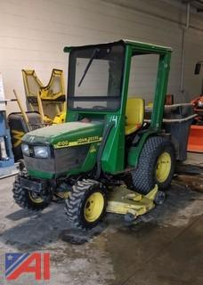 John Deere 4100 HST Tractor & Attachments