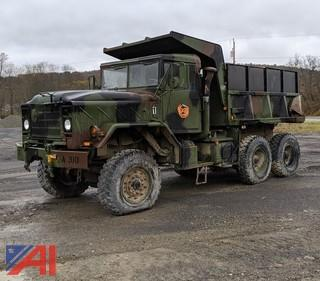1990 AM/GE Military 6 x 6 Dump Truck