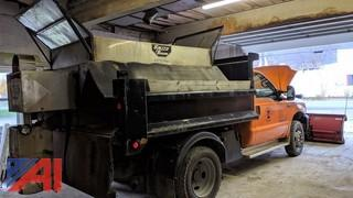 2000 Ford F550 XL Super Duty Dump Truck  with Plow and Sander