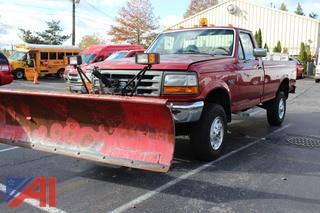 1997 Ford F350 Pickup Truck with Meyer Plow and Meyer 750S Salt/Sand Spreader
