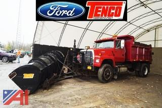 1995 Ford L9000 Dump Truck With Plow & Spreader