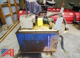 Rotary Hydraulic Oil Tank & Pump