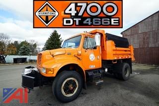 1999 International 4700 Dump Truck with Plow & Spreader