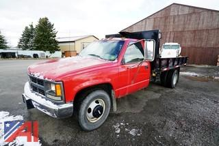 1998 Chevy C/K 3500 1 Ton Dumping Flatbed Truck