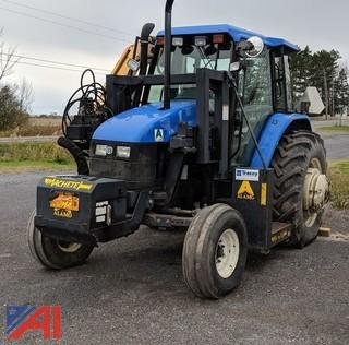 2001 New Holland TS100 Tractor & Flail Mower