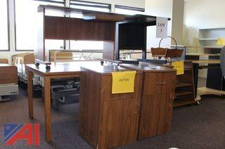 (#3) Various Tables, Cabinets and Work Station