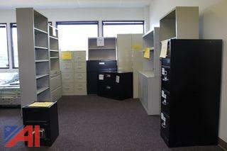 (#4) Metal Filing Cabinets and Safe