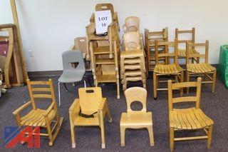 (#10) Children's Wooden Chairs