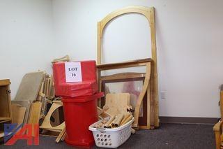 (#16) Large Wooden/Plastic Nursery Gym