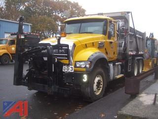 **4% BP** 2017 Mack Granite GU713 Dump Truck with Sander and Plow