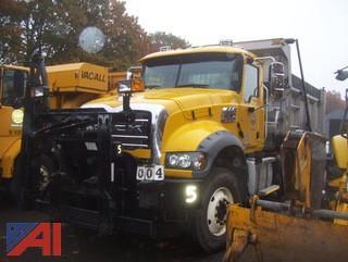 **4% BP** 2017 Mack Granite GU713 Dump Truck Sander and Plow