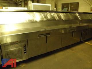 Randell 10' Stainless Steel Pizza Prep Table with Pans