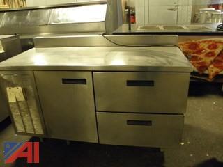 Delfield 2 Drawer 1 Door Refrigerated Prep Table