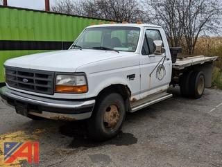 1997 Ford F350 XL Utility Flat Bed Pickup Truck