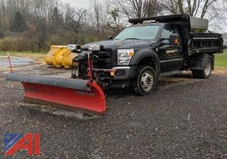 2015 Ford F450 XL Super Duty Dump Truck with Plows & Sander