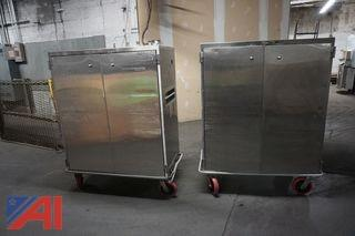 (2) Stainless Steel Cabinets