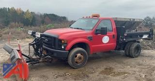 (E4) 2008 Ford F350 XL Super Duty Truck with Sander and Plow