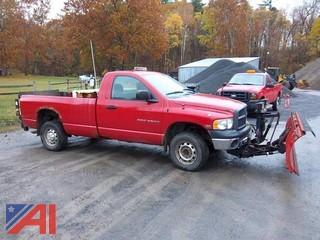 2003 Dodge Ram 2500 Pickup Truck with Plow and Lift Gate