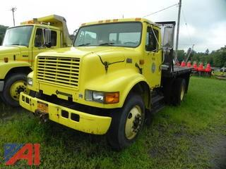 1996 International 4700 Flat Bed Truck