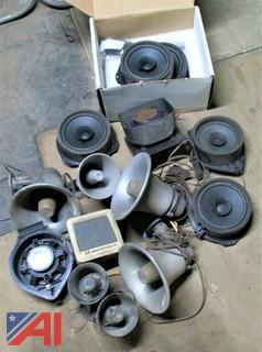 Assorted Speakers, Sirens and Radio