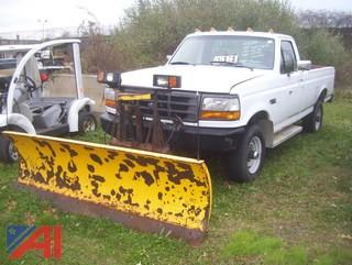1997 Ford F250 Pickup Truck with Plow