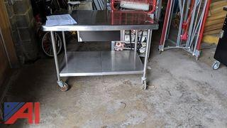 Stainless Steel Rolling Prep Table