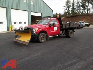 2013 Ford F350 XL Super Duty Platform Dump Truck with Plow