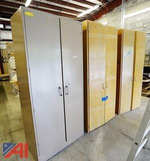 Metal Door & Wood Storage Cabinets