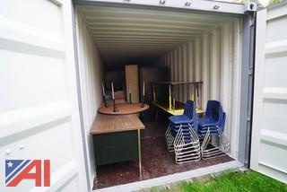 Desks Cabinets & Chairs in Container 3