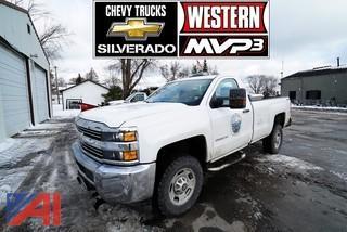 **4% BP** 2018 Chevy Silverado 2500HD Pickup Truck wIth Western MVP3 V-Plow