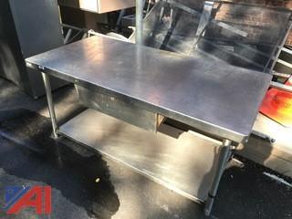Stainless Steel Food Prep Tables