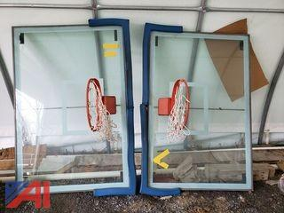 Glass Basketball Backboards with Hoops