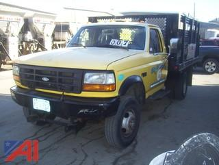1997 Ford F350 XL Rack Truck with Lift Gate