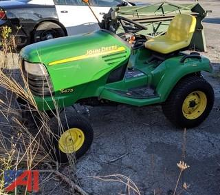 John Deere X475 Riding Lawn Mower